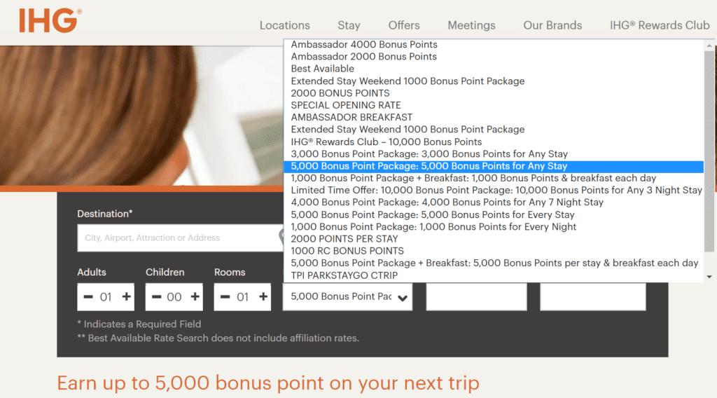 Durch Bonuspunkte-Paket mehr Punkte pro Aufenthalt sammeln