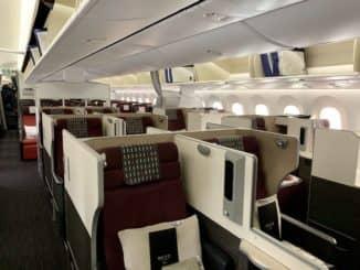 JAL Business Class Sky Suite 787-8 hintere Kabine