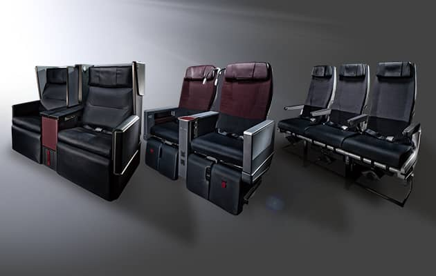 JAL Domestic First Class, J Class und Domestic Economy Class &copy JAL