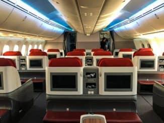 LATAM Business Class Boeing 787-9 Business Class Kabine