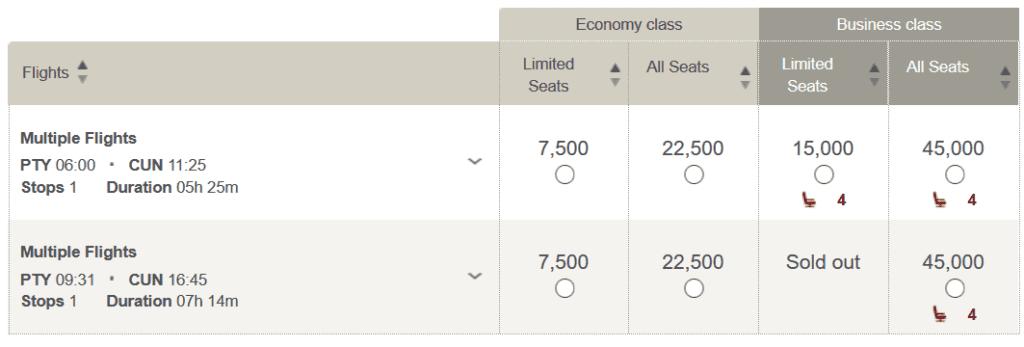 Für nur 7.500 LifeMiles und 86 USD von Panama über San Salvador nach Cancun