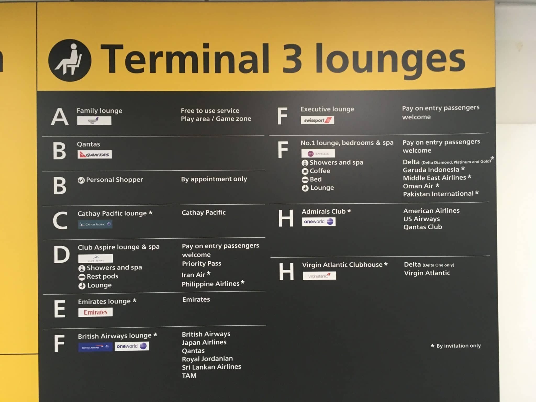 Qantas London Lounge Finder