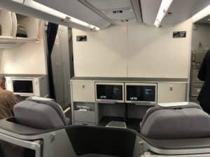Lufthansa Business Class A350 hintere Kabine