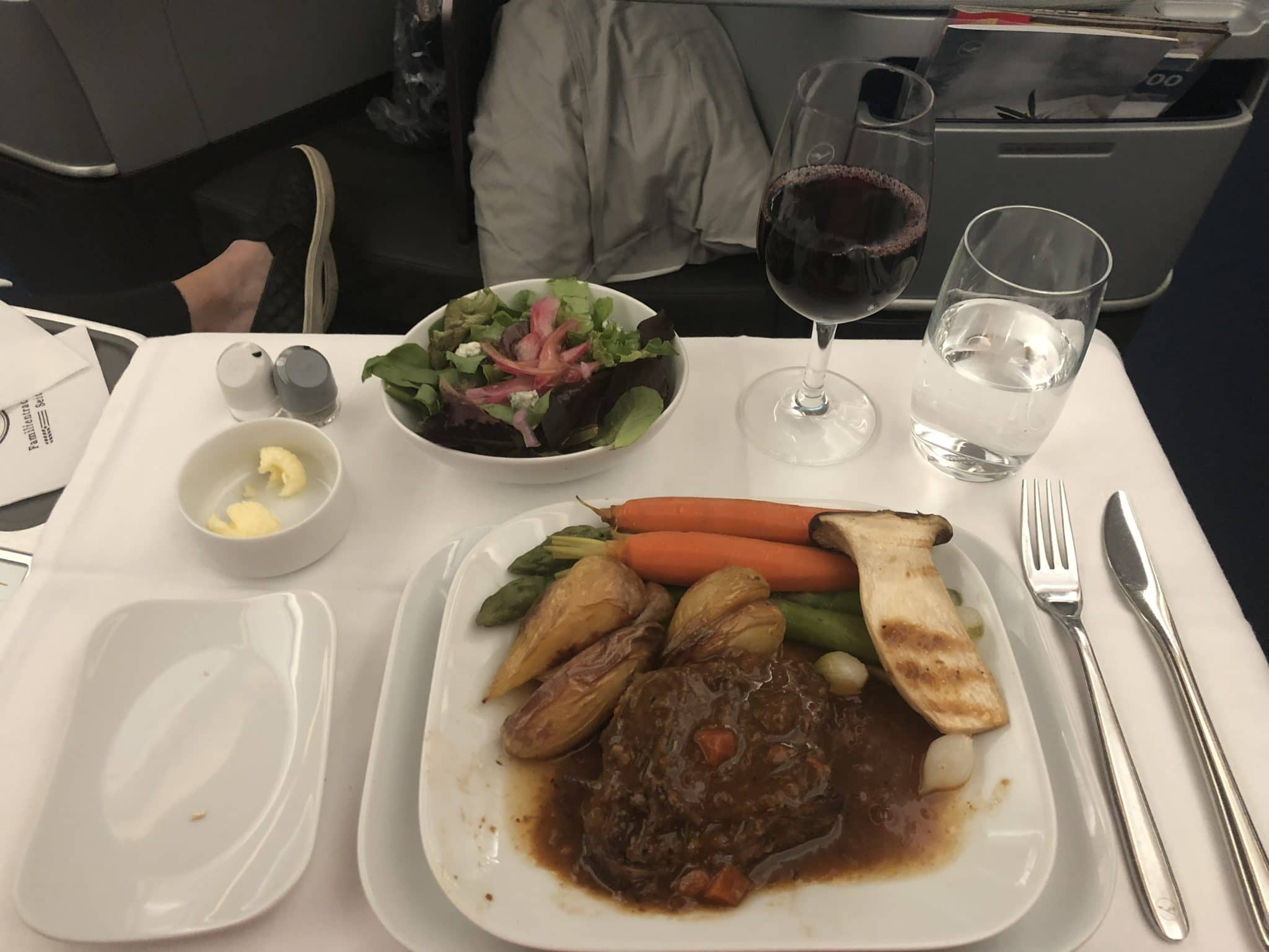 Lufthansa Business Class A350 kanadische Rinderbrust