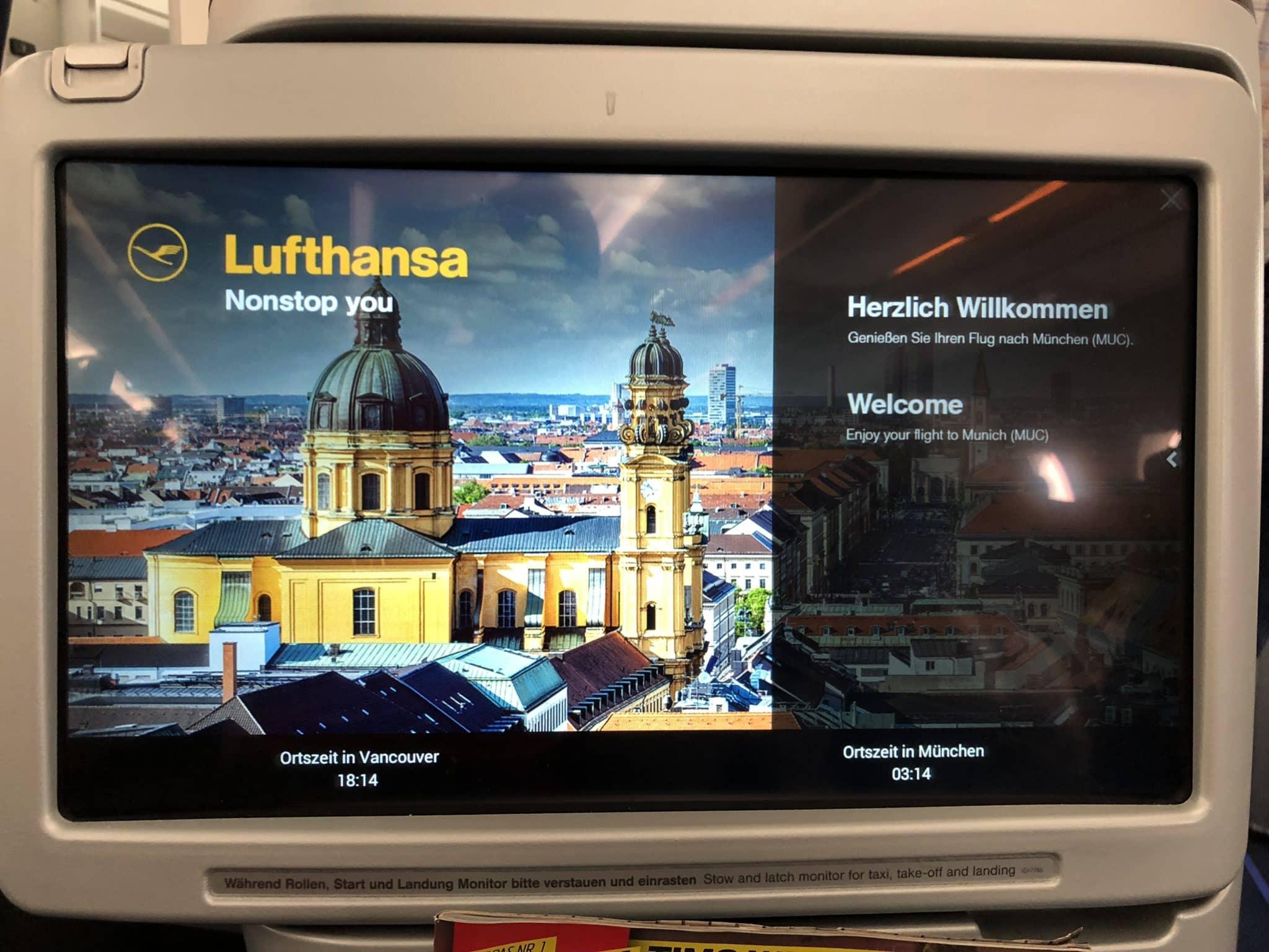 Lufthansa Business Class A350 Fluginfo