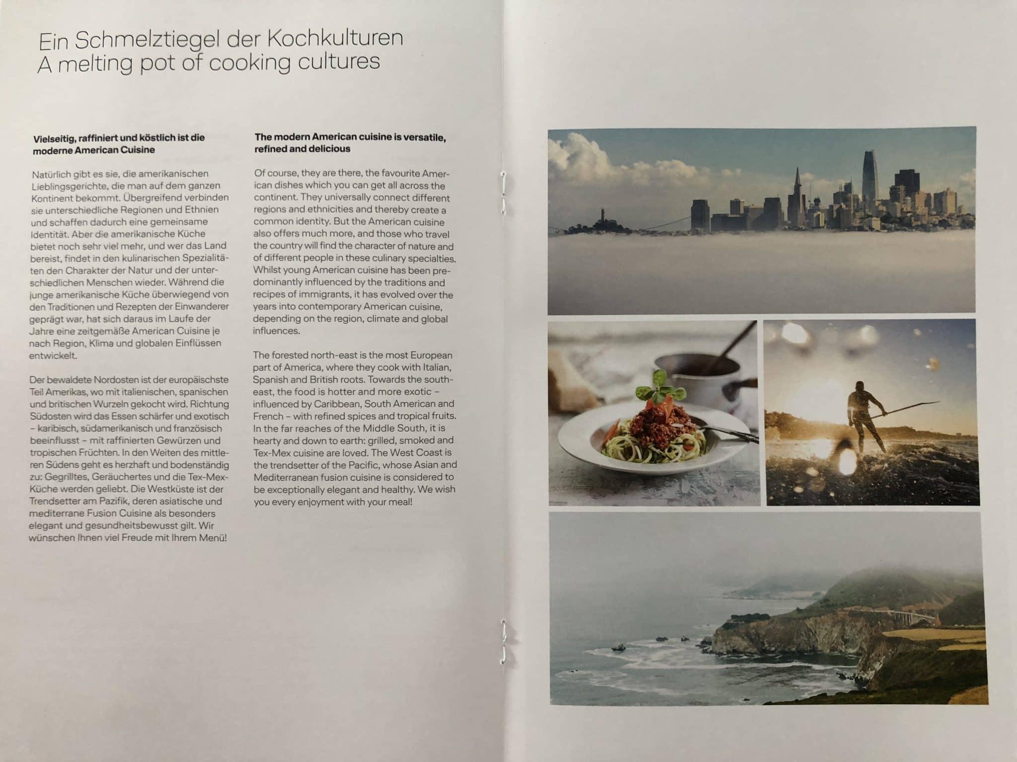Lufthansa Business Class A350 Infos zum Essen