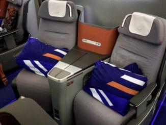 Lufthansa Business Class Airbus 350 Sitze in der Mitte