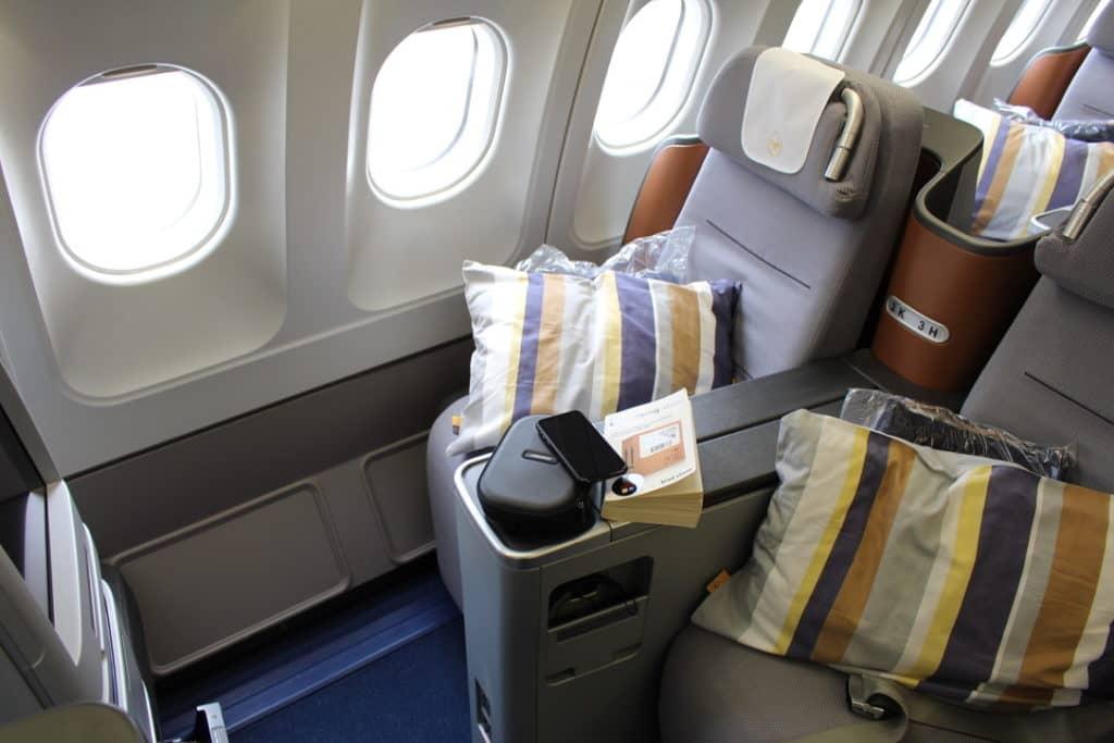 Lufthansa Business Class an Bord der Boeing 747