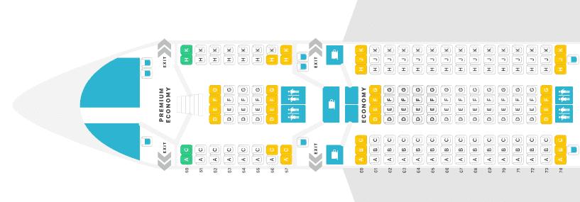 Lufthansa Premium Economy Sitzplan Airbus A380