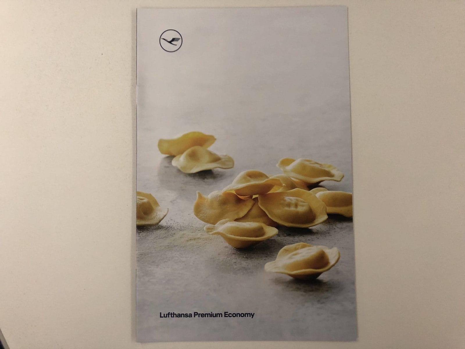 Lufthansa Premium Economy Board Menü