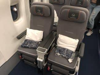 Lufthansa Premium Economy Sitze erste Reihe
