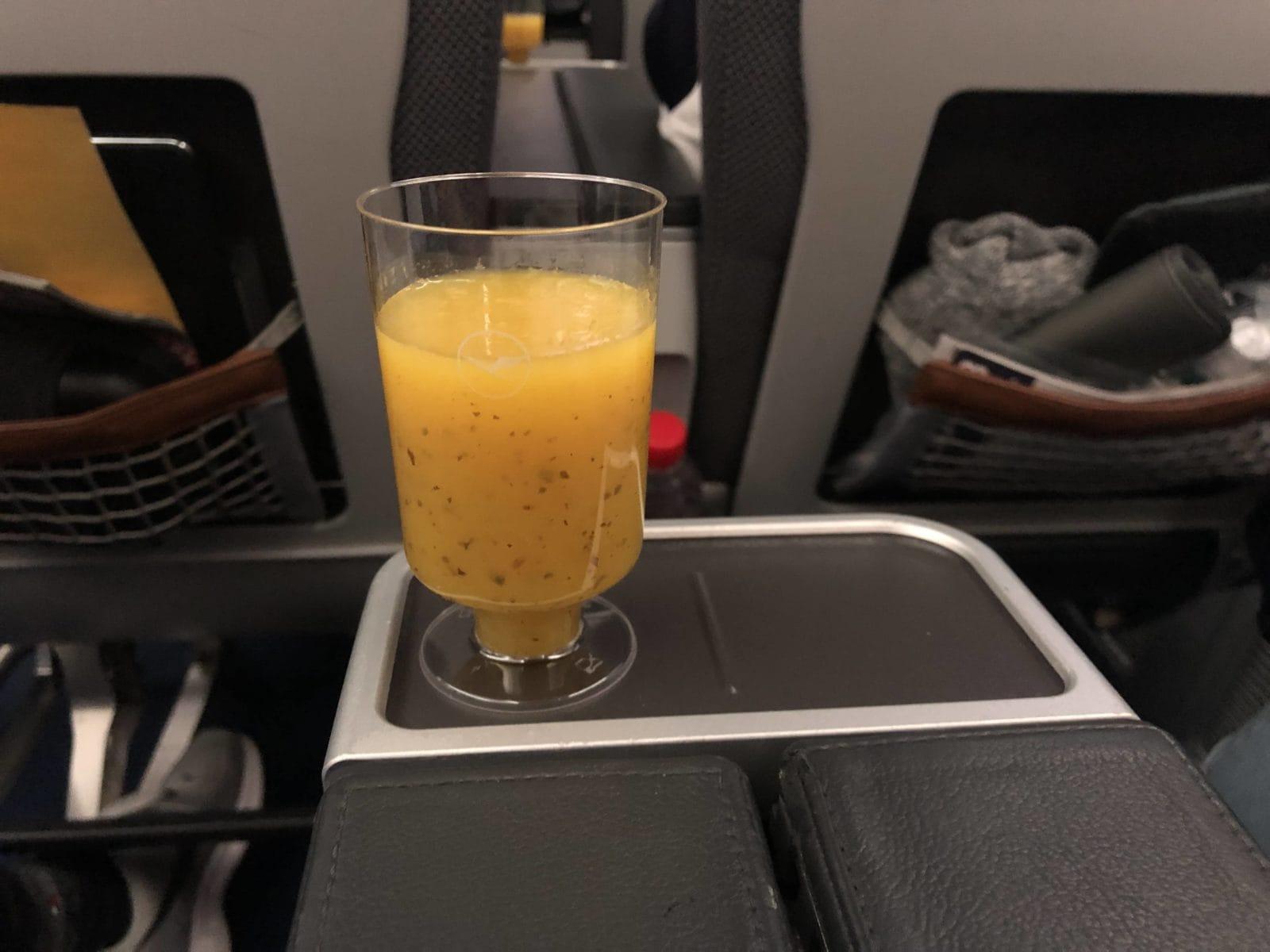 Lufthansa Premium Economy Welcome Drink