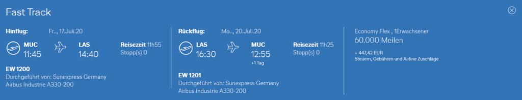 Neue Eurowings Langstrecke ab München nach Las Vegas bei Miles & More © Miles & More