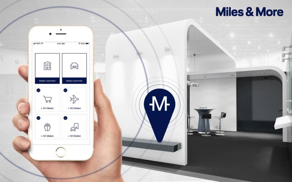 Bei Ständen der Miles & More Partner sammeln Besucher mit der Miles & More App zahlreiche Meilen auf der ITB Berlin. &copy Miles & More