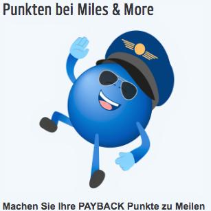 Eine Möglichkeit Payback Punkte einzulösen ist sie, in Miles & More Meilen umzuwandeln.