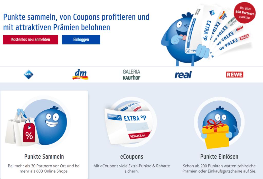 Punkte sammeln und von Coupons profitieren, jede Payback Aktion wird auch zur Miles & More Aktion © payback.de