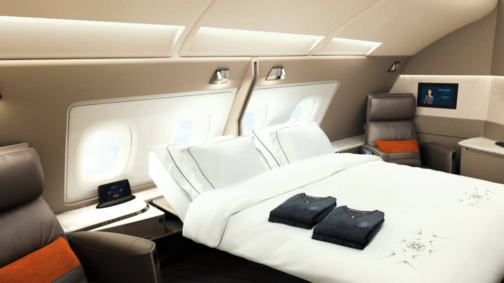 Die neue Singapore Airlines Suite an Bord des A380 © Singapore Airlines