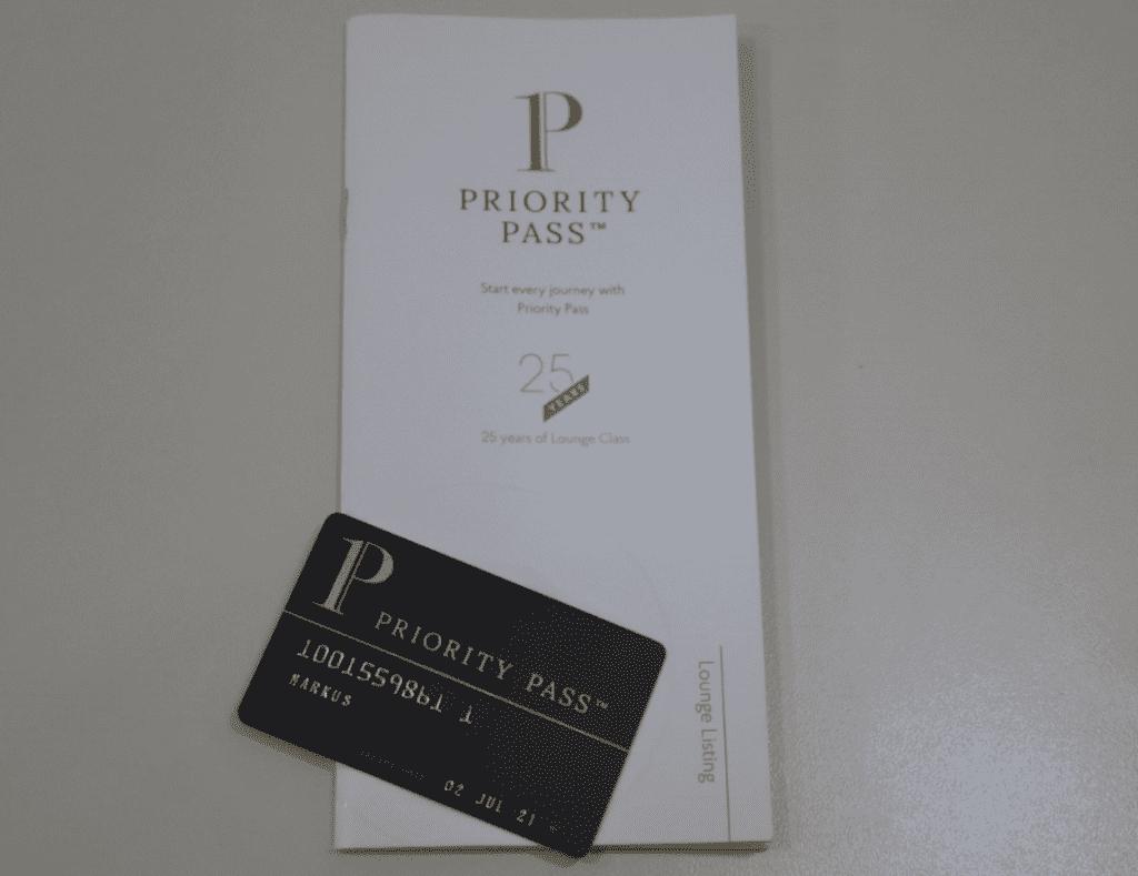 Nach der erfolgreichen Anmeldung erhaltet ihr den Priority Pass