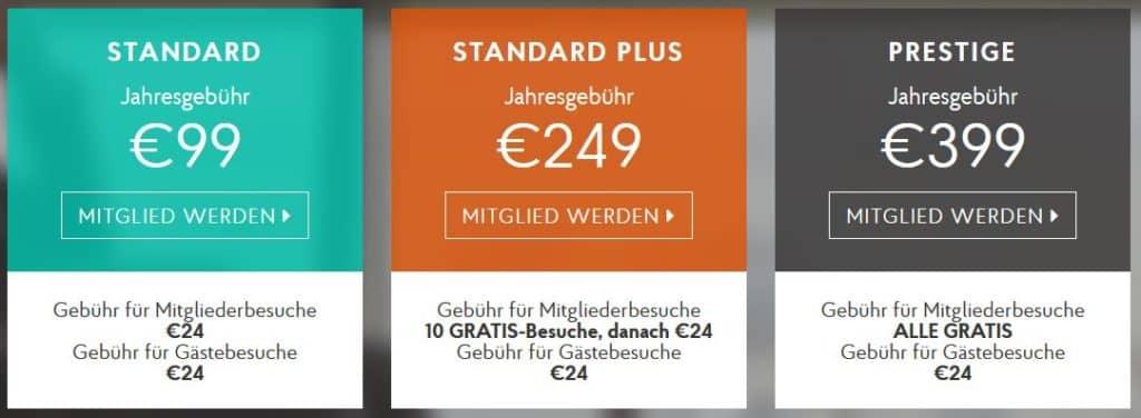 Für eine Prestige-Mitgliedschaft zahlt man sonst 399 Euro im Jahr
