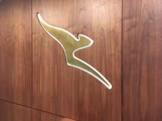 Qantas London Lounge Qantas Logo