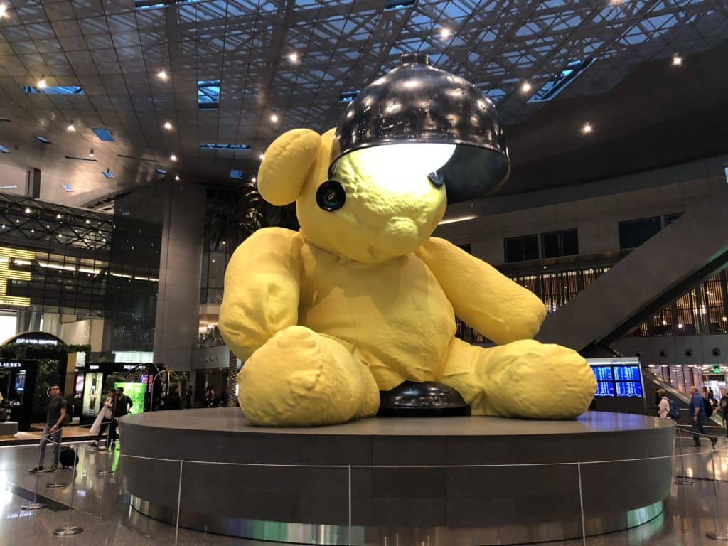 Qatar Airways Al Mourjan Business Class Lounge Lamp Bear