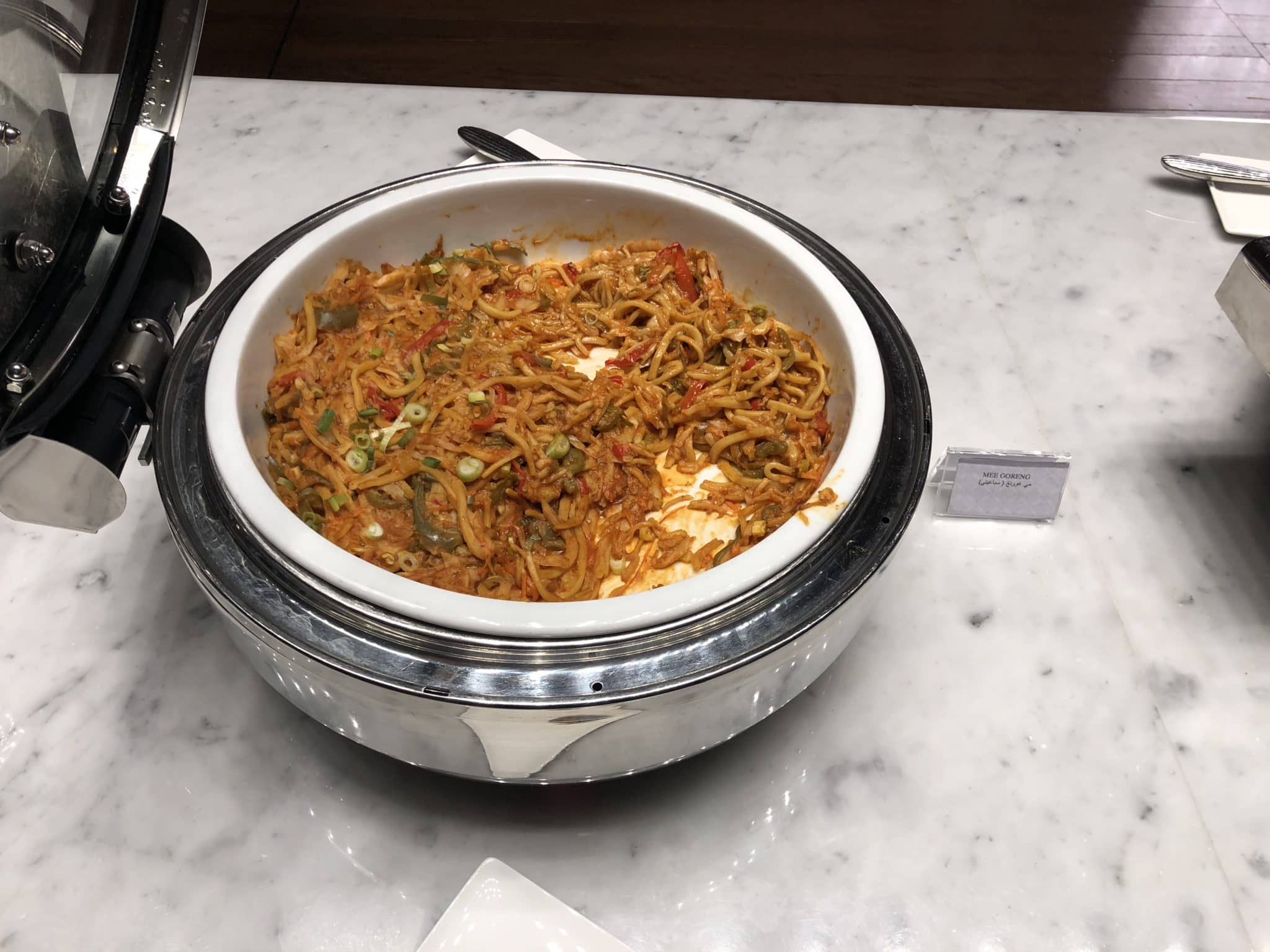 Qatar Airways Al Mourjan Business Class Lounge Mee Goreng Restaurant