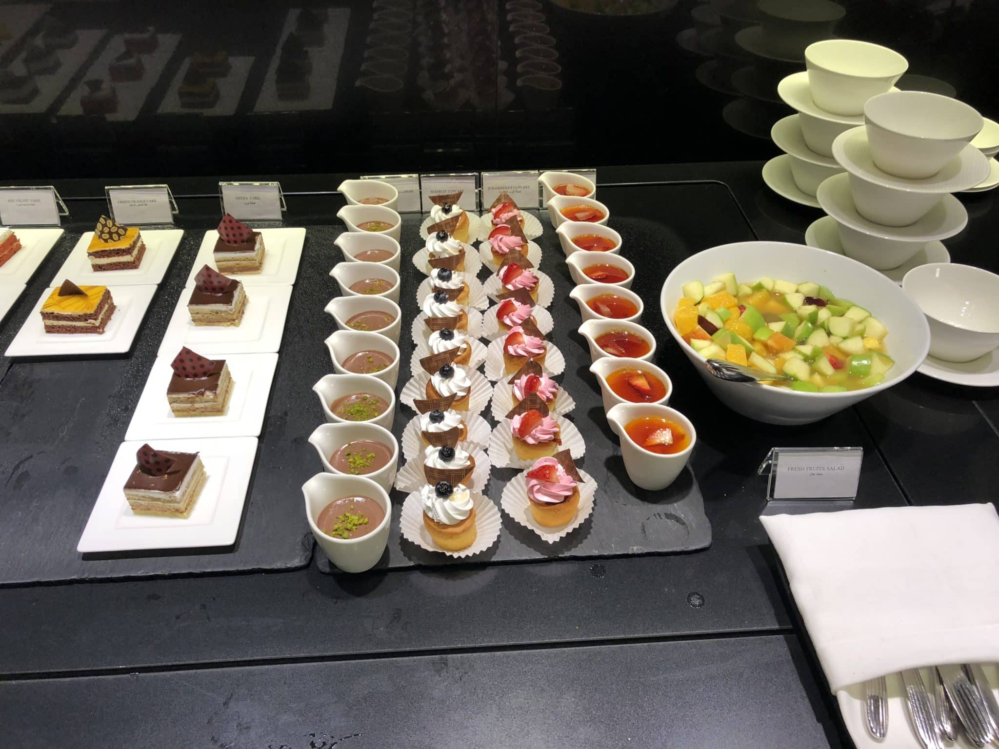 Qatar Airways Al Mourjan Business Class Lounge Sweets