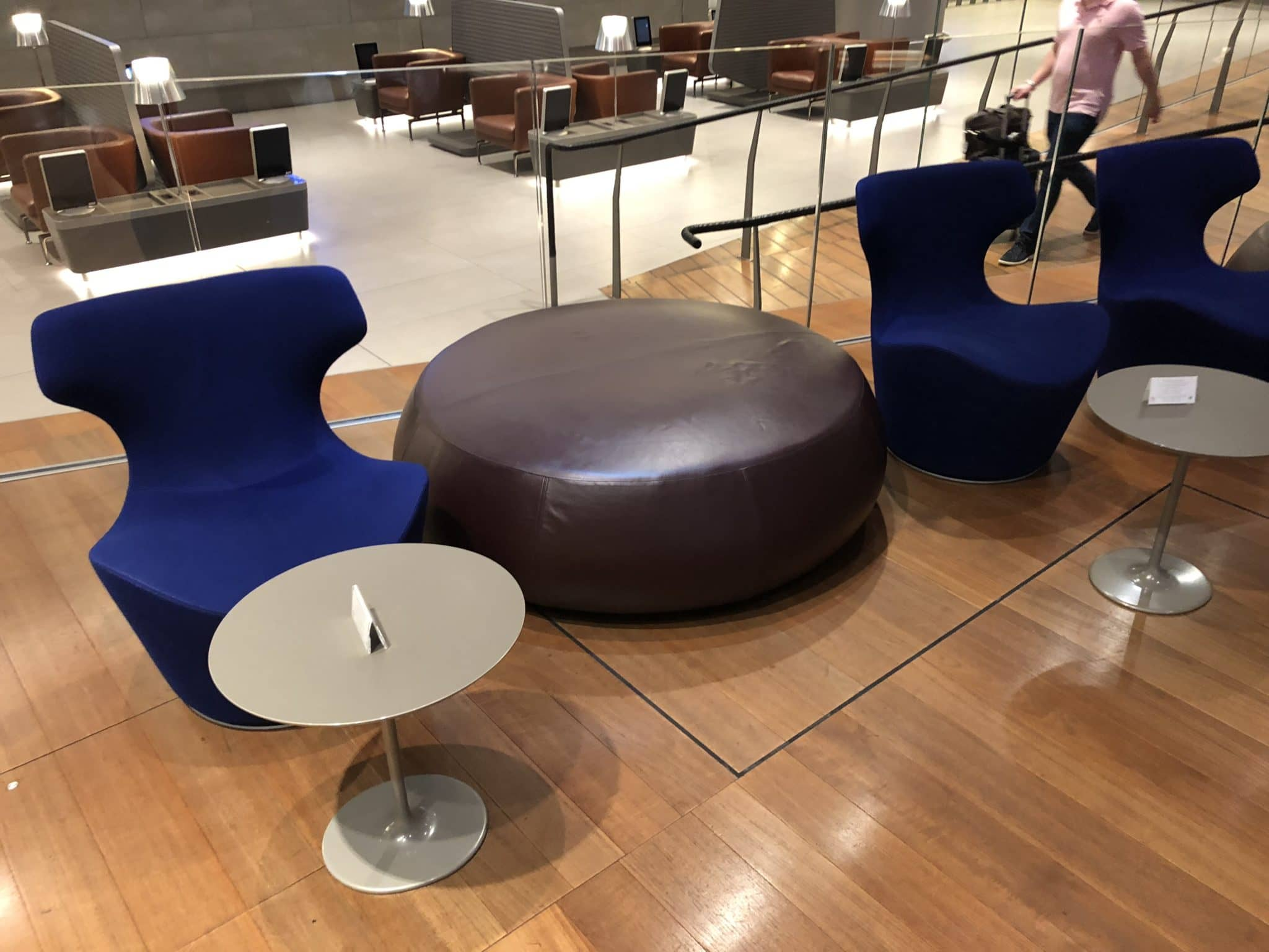 Qatar Airways Al Mourjan Business Class Lounge Sitzoptionen