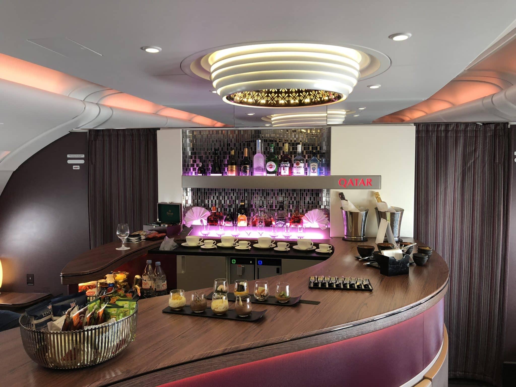 Qatar Airways Business Class A380 Bar/Lounge