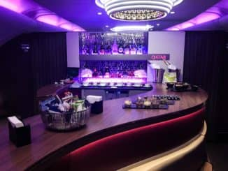 Qatar Airways Business Class A380 Bar/Lounge