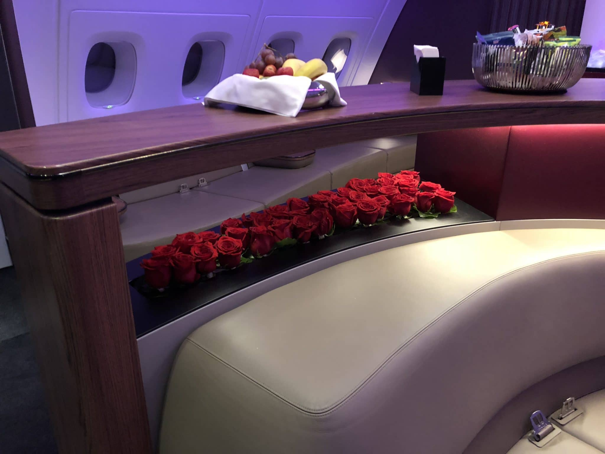 Qatar Airways Business Class A380 Lounge Rosen