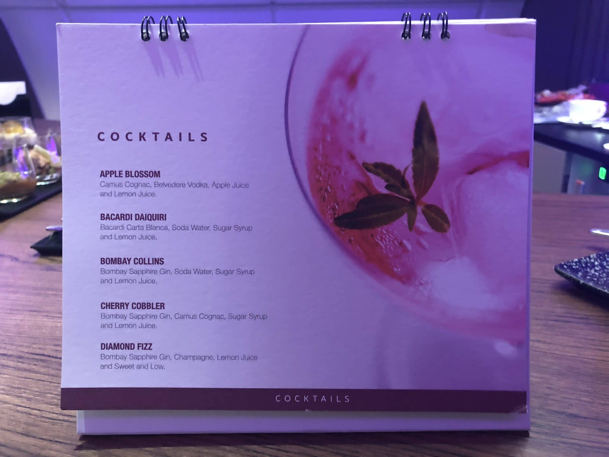 Qatar Airways Business Class A380 Cocktailkarte Teil 2