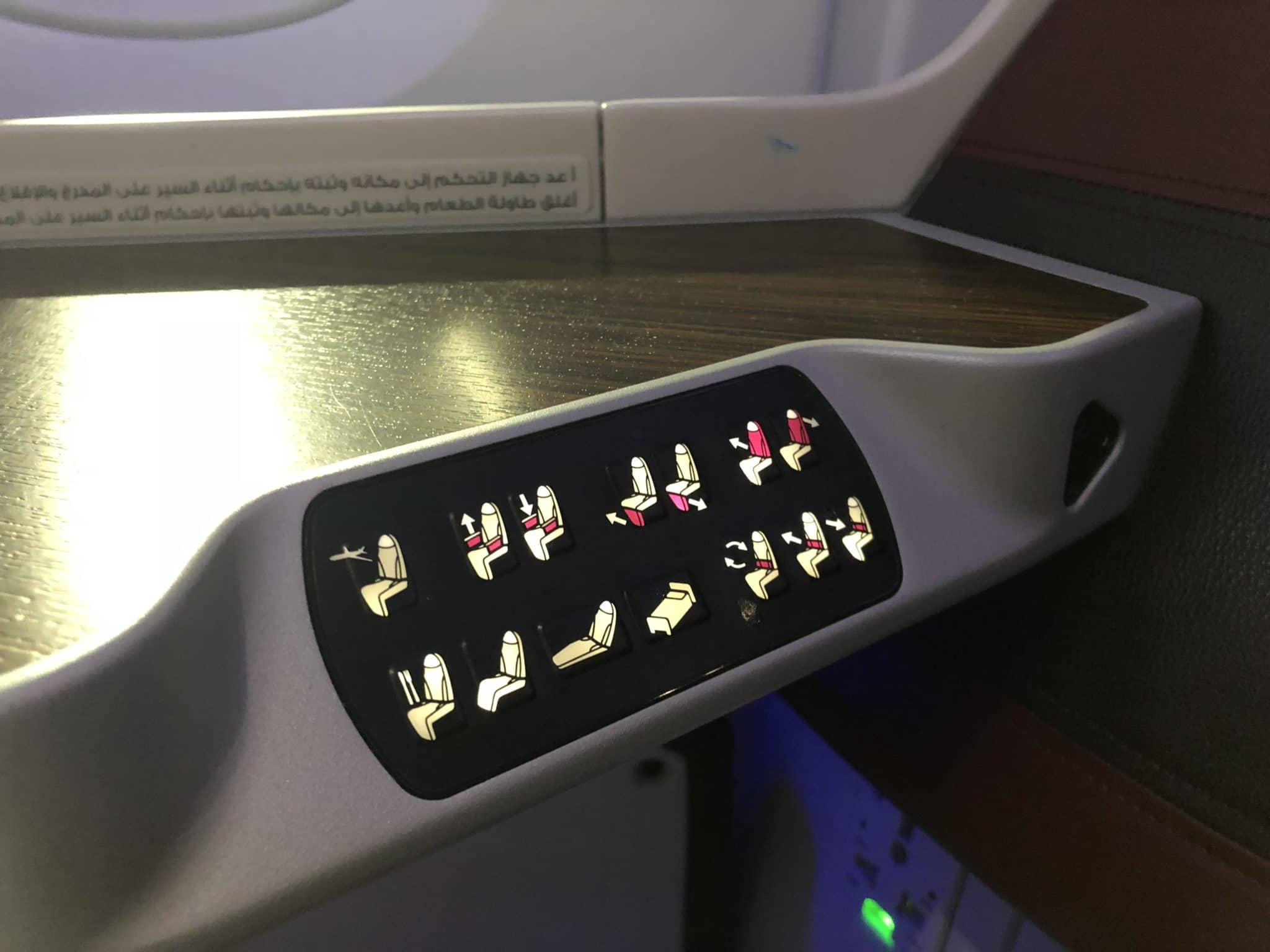 Qatar Airways Business Class A380 Controller Sitz