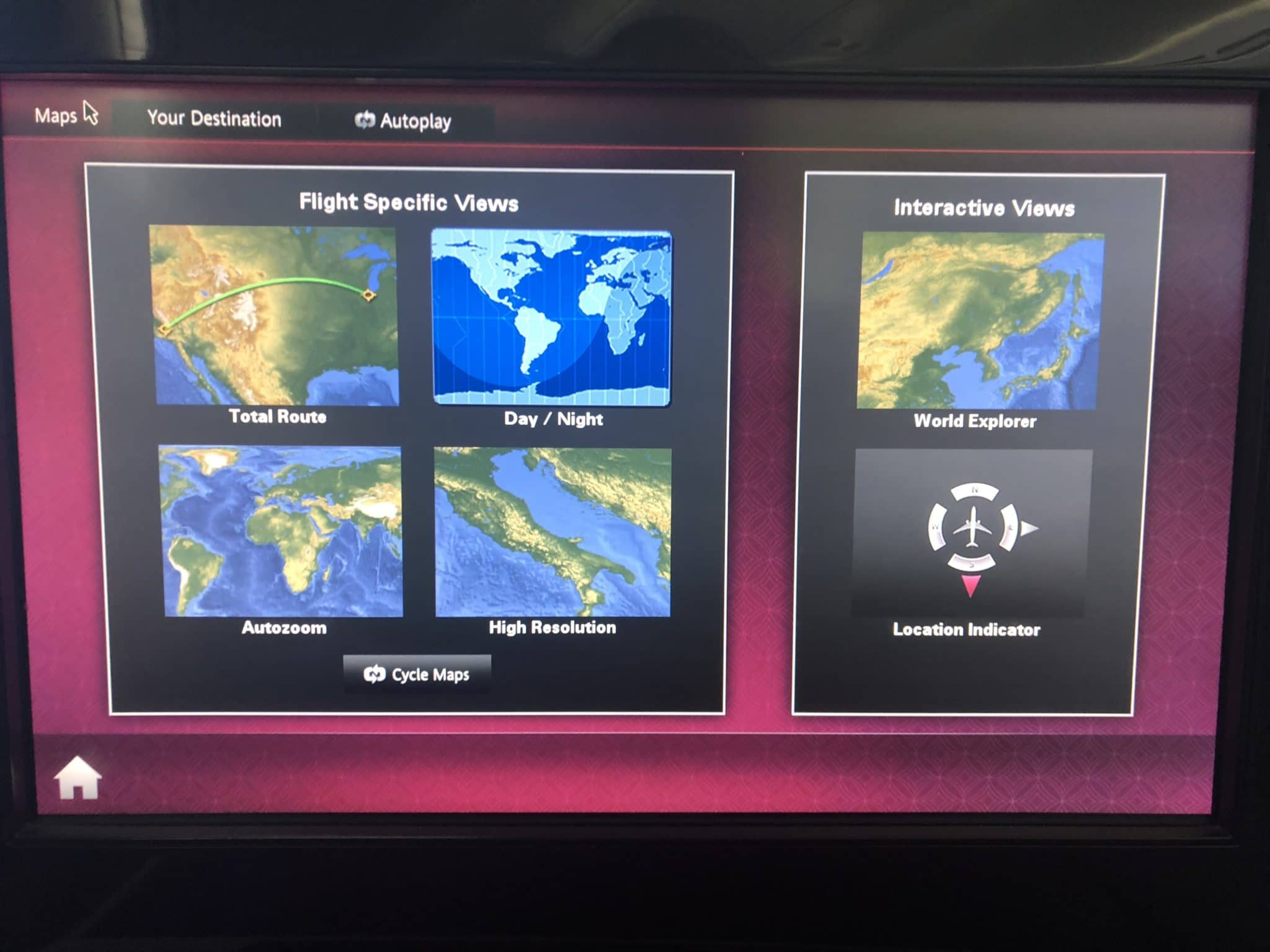 Qatar Airways Business Class A380 Interaktive Maps