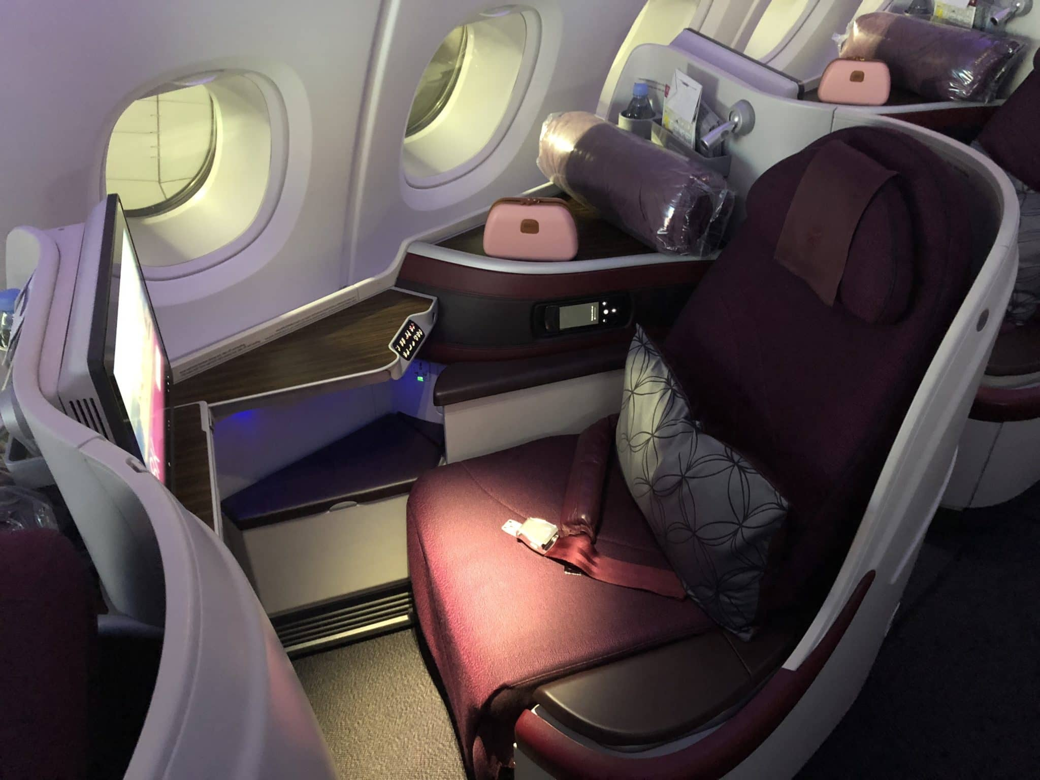 Qatar Airways Business Class A380 Sitz A380