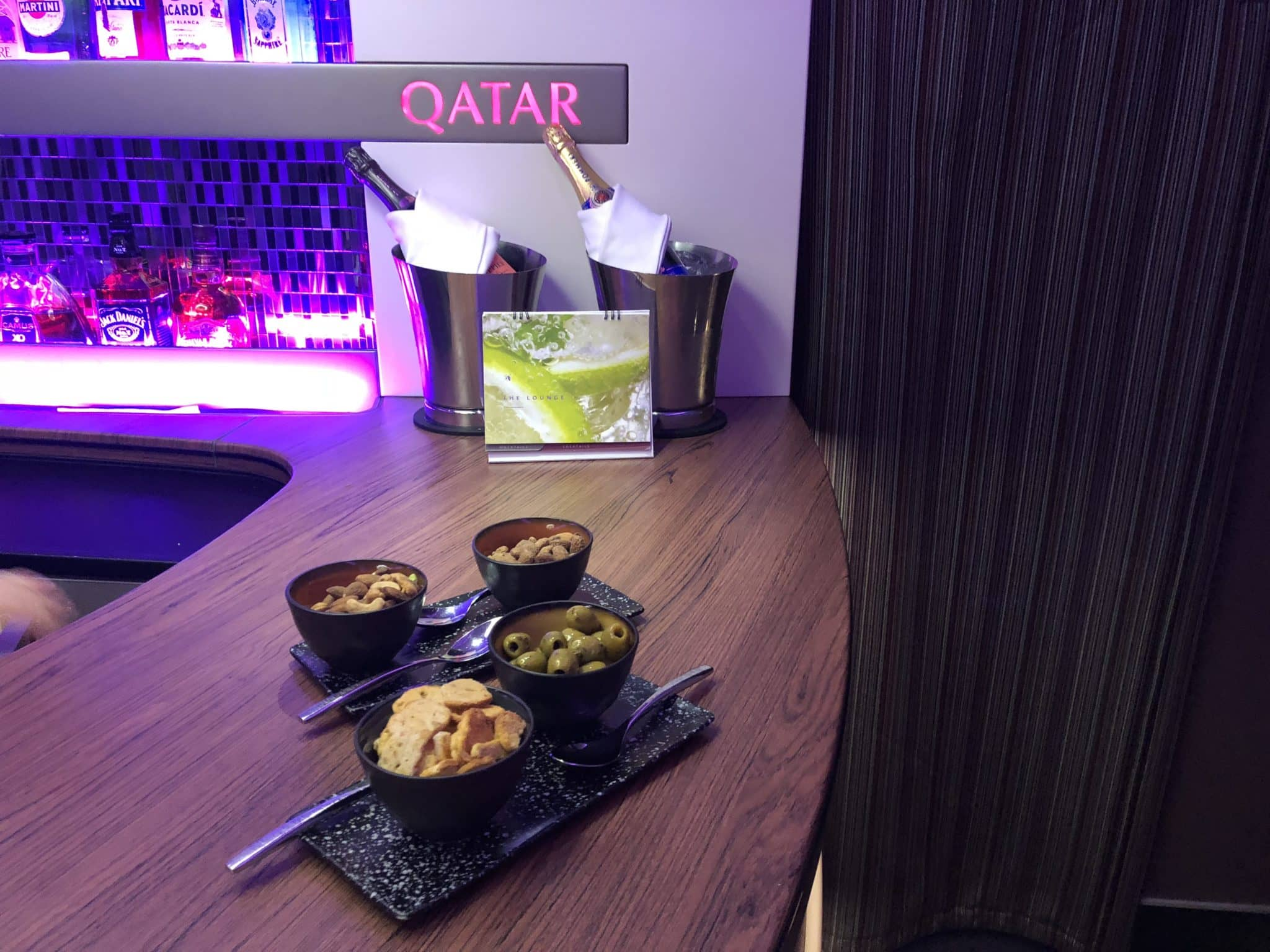 Qatar Airways Business Class A380 Snacks Bars