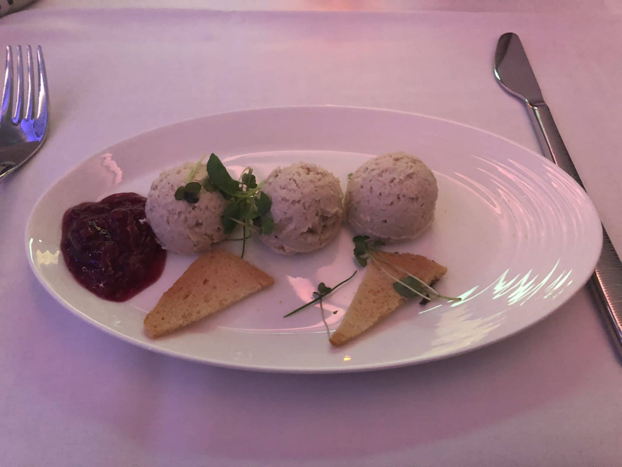 Qatar Airways Business Class A380 Vorspeise