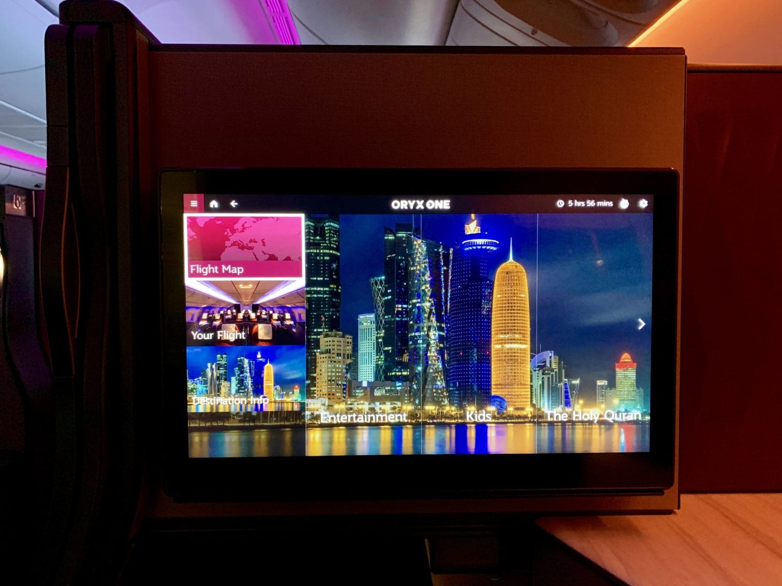 Qatar Airways Qsuite Boeing 777-300ER Entertainment