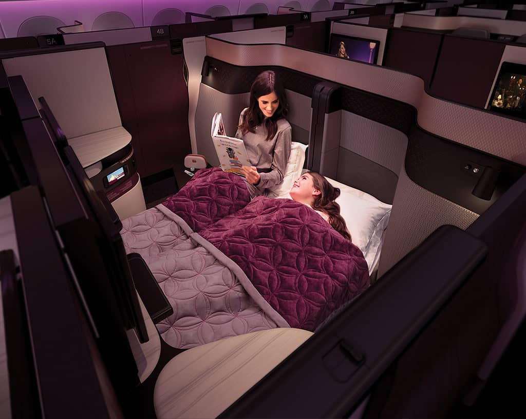 Qatar Airways Qsuite Doppelbett &copy Qatar Airways