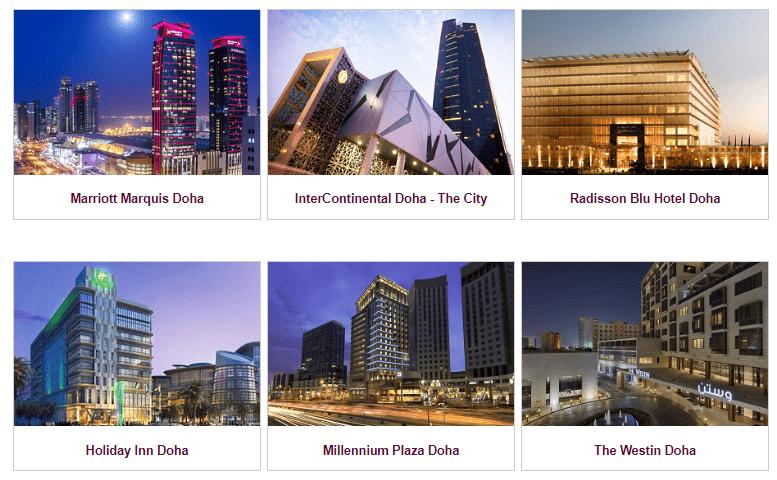 Auswahl an +Qatar Hotels ©Qatar Airways