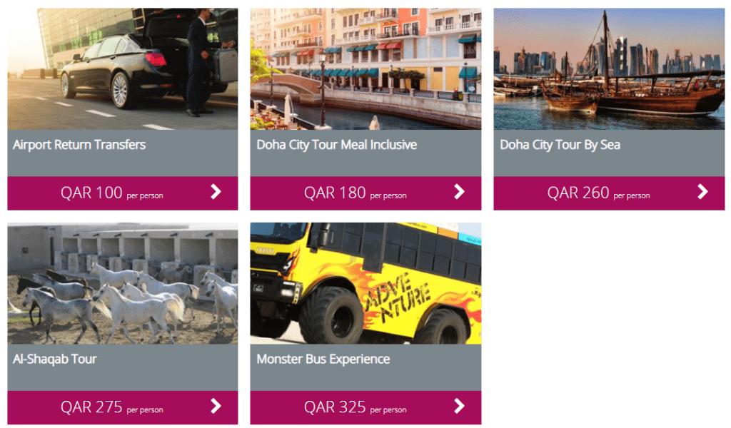 Auswahl an Touren ©Qatar Airways