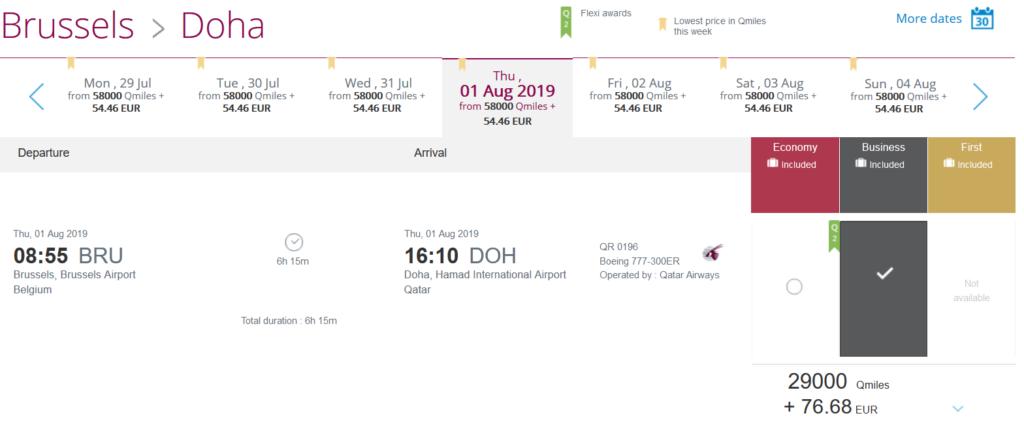 Qatar Airways Easy Deals Brüssel - Doha