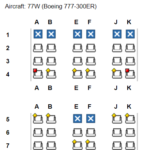 Boeing 777 ohne Qsuite ©expertflyer.com