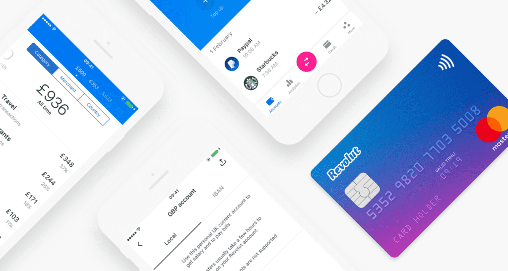 Revolut kombiniert Girokonto, Kreditkarte und Banking App