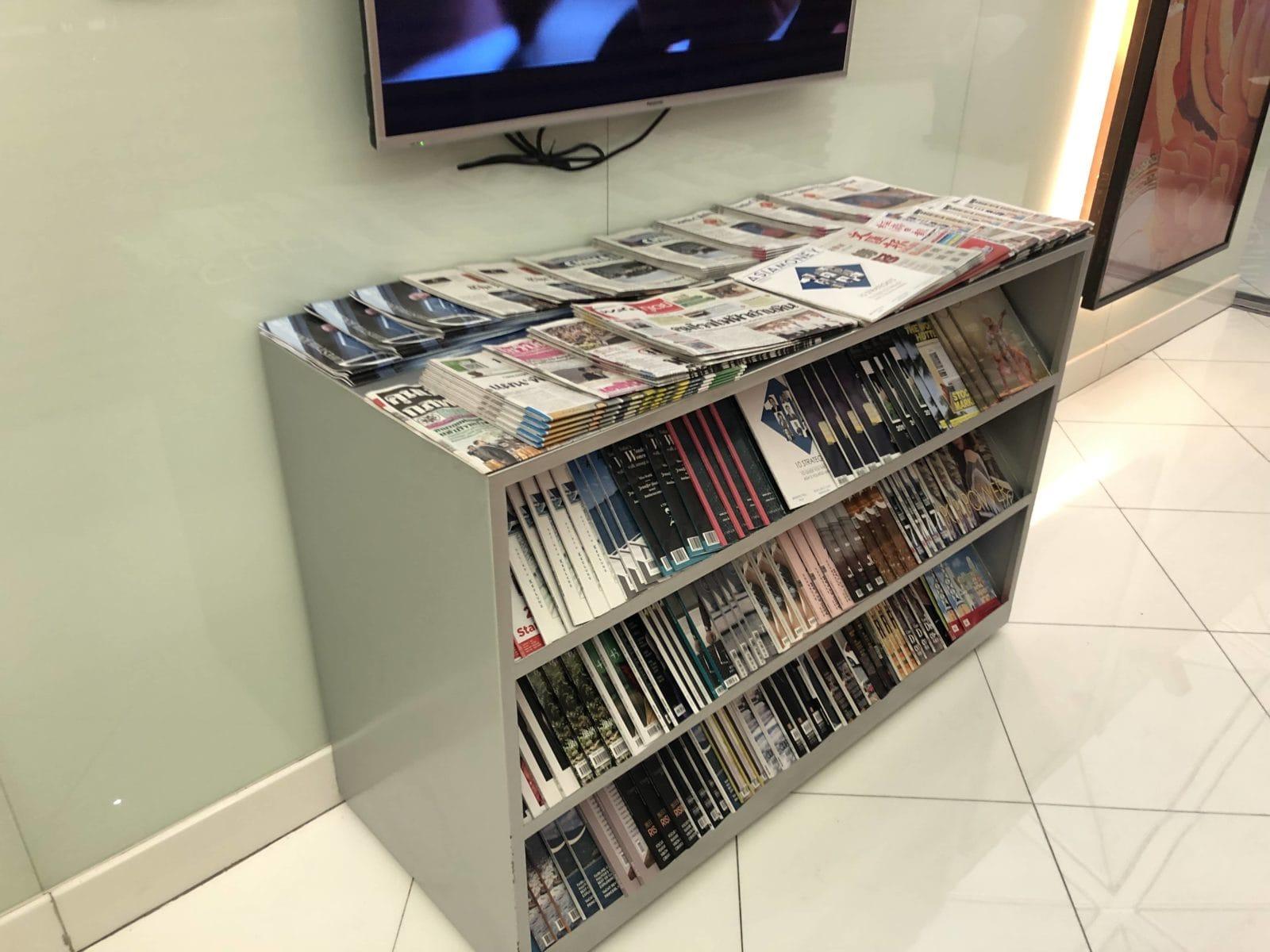 Royal Orchid Lounge Hong Kong Zeitschriften und Zeitungen