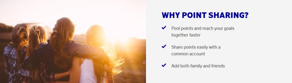 SAS EuroBonus Point Sharing - Meilenpooling für bis zu 8 Personen