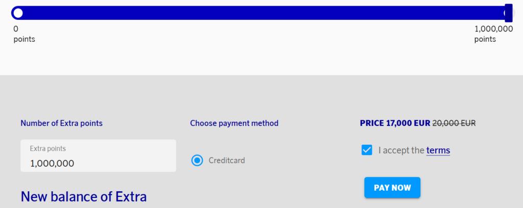 EuroBonus Extra Punkte kaufen - Bis zu 1.000.000 Punkte sind möglich