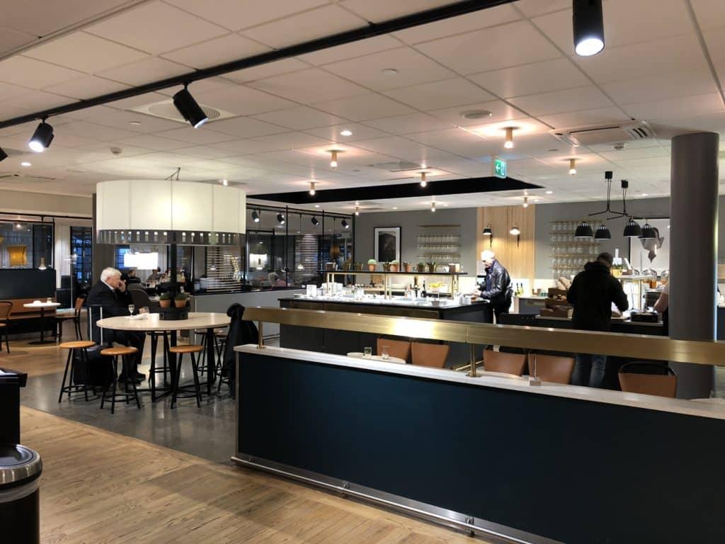 SAS Gold Lounge Oslo-Gardermoen Blick in die Lounge
