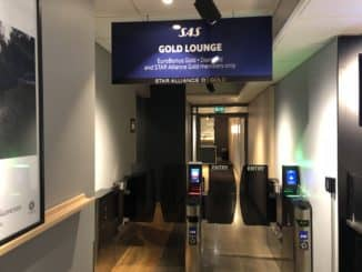 SAS Gold Lounge Oslo-Gardermoen Eingangsbereich Gold Lounge