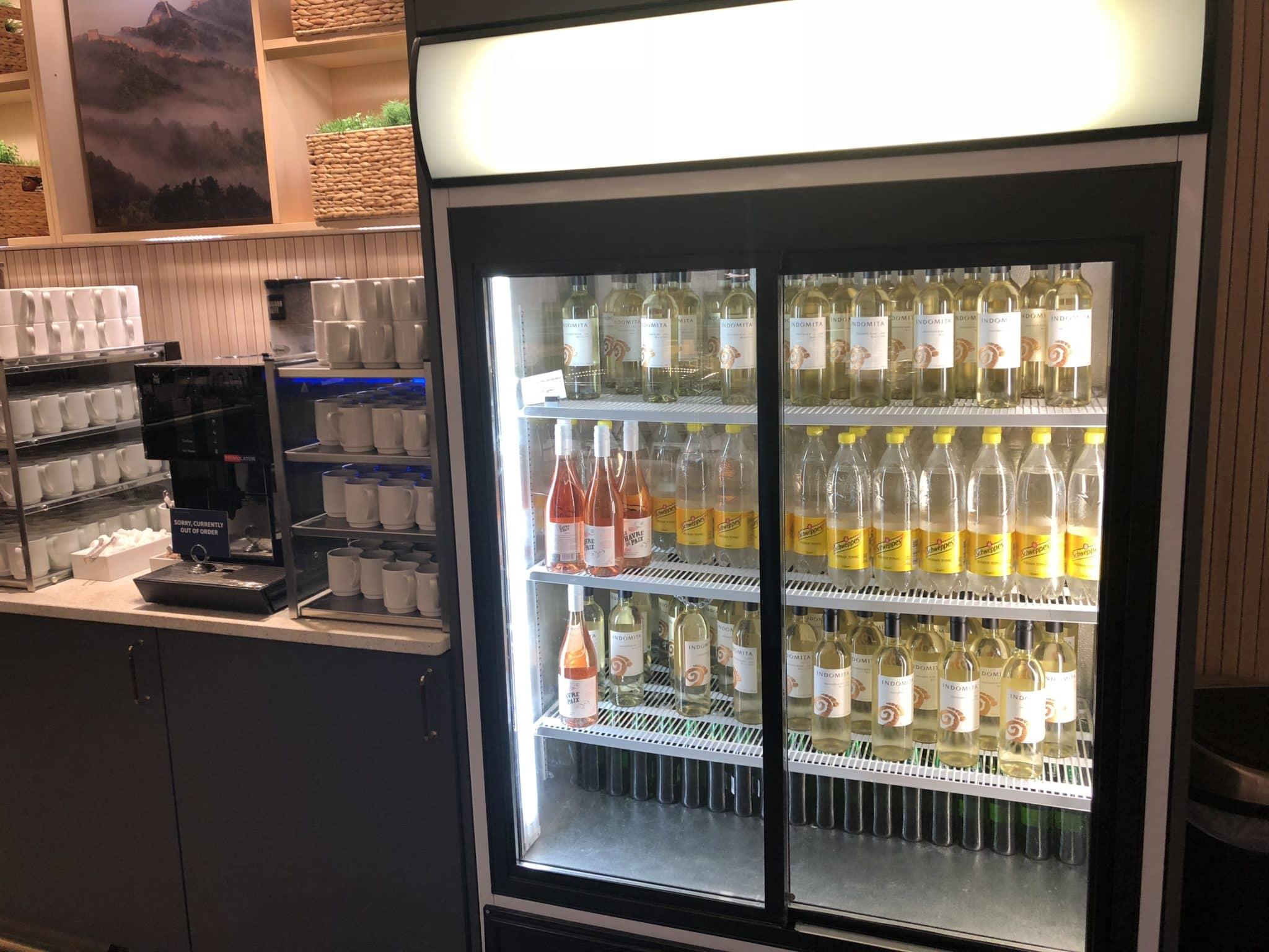 SAS Gold Lounge Oslo-Gardermoen Wein und Tonic